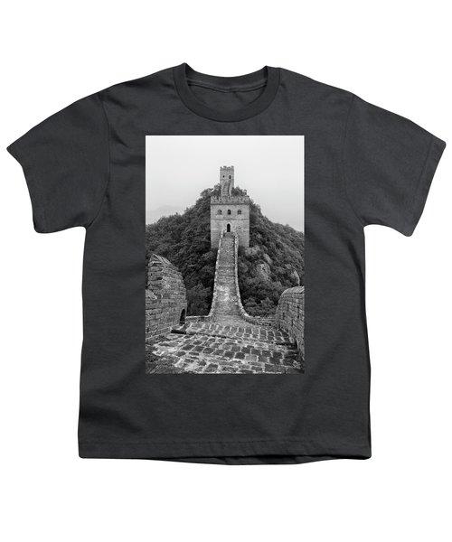 Youth T-Shirt featuring the photograph Great Wall 1, Jinshanling, 2016 by Hitendra SINKAR