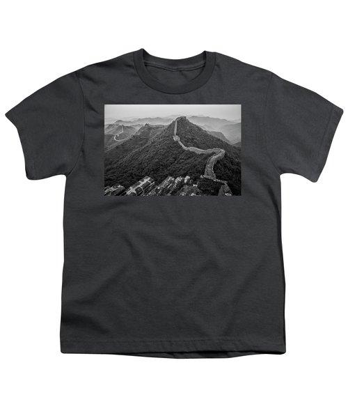 Youth T-Shirt featuring the photograph Great Wall 2, Jinshanling, 2016 by Hitendra SINKAR