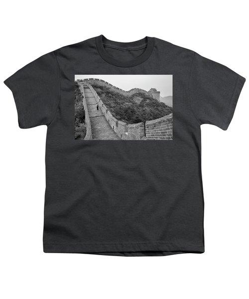 Youth T-Shirt featuring the photograph Great Wall 9, Jinshanling, 2016 by Hitendra SINKAR