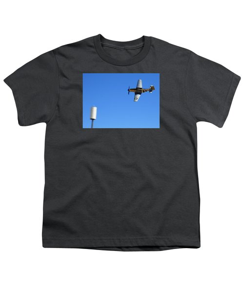 Grim Reaper.  P51d.  Not Just Your Father's Show Plane Youth T-Shirt