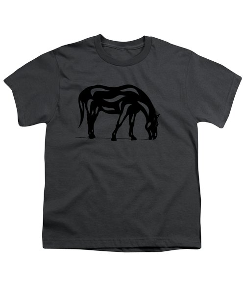 Hazel - Abstract Horse Youth T-Shirt by Manuel Sueess