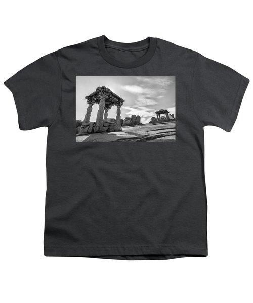 Youth T-Shirt featuring the photograph Hemakuta Hill, Hampi, 2017 by Hitendra SINKAR