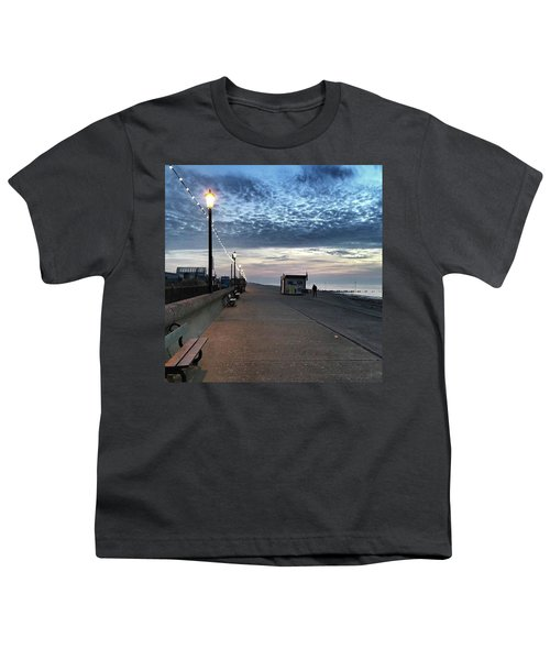 Hunstanton At 5pm Today  #sea #beach Youth T-Shirt by John Edwards