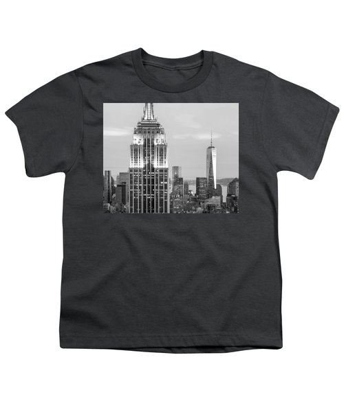 Iconic Skyscrapers Youth T-Shirt by Az Jackson