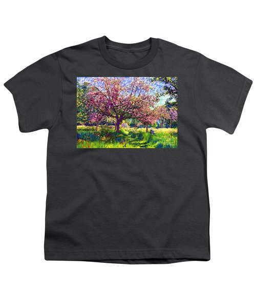 In Love With Spring, Blossom Trees Youth T-Shirt