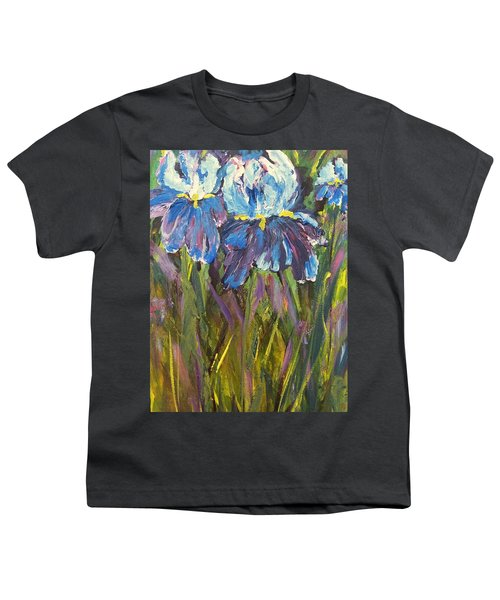 Iris Floral Garden Youth T-Shirt