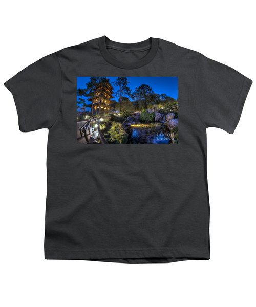 Japan Epcot Pavilion By Night. Youth T-Shirt