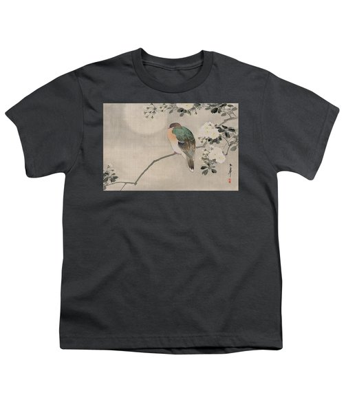 Japanese Silk Painting Of A Wood Pigeon Youth T-Shirt by Japanese School