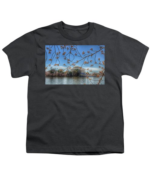 Jefferson Memorial - Cherry Blossoms Youth T-Shirt by Marianna Mills