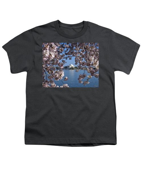 Jefferson Memorial On The Tidal Basin Ds051 Youth T-Shirt by Gerry Gantt