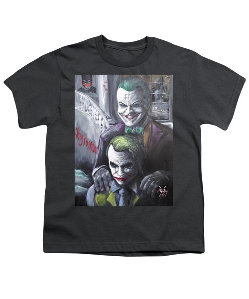 Jokery In Wayne Manor Youth T-Shirt by Tyler Haddox