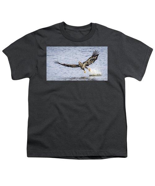 Juvenile Bald Eagle Fishing Youth T-Shirt by Ricky L Jones