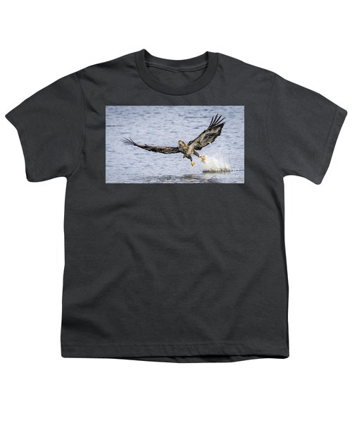 Juvenile Bald Eagle Fishing Youth T-Shirt