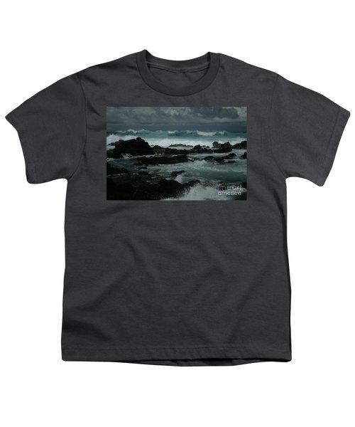 Ka Makani Kaiili Aloha Hookipa Maui Hawaii  Youth T-Shirt by Sharon Mau