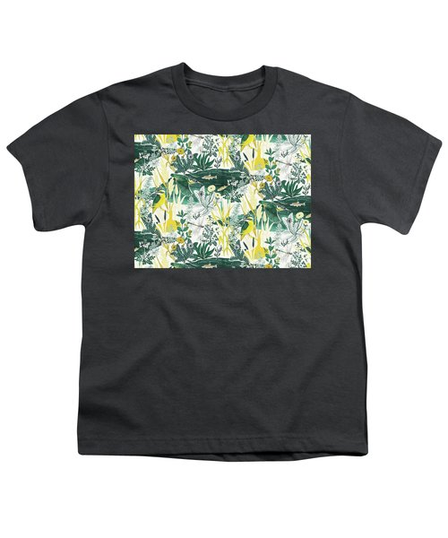 Kingfisher Youth T-Shirt by Jacqueline Colley