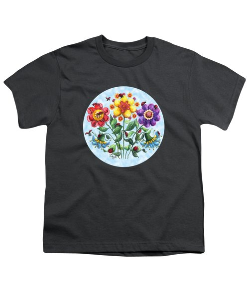 Ladybug Playground On A Summer Day Youth T-Shirt by Shelley Wallace Ylst