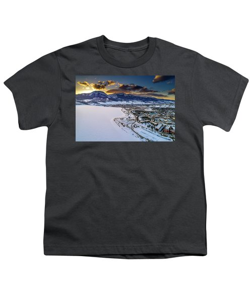 Youth T-Shirt featuring the photograph Lake Dillon Sunset by Sebastian Musial