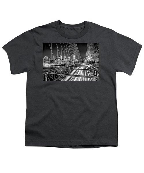 Light Trails Of Manhattan Youth T-Shirt by Az Jackson