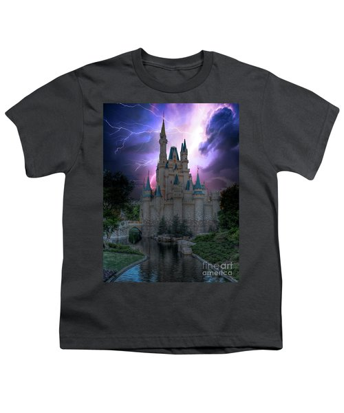 Lighting Over The Castle Youth T-Shirt