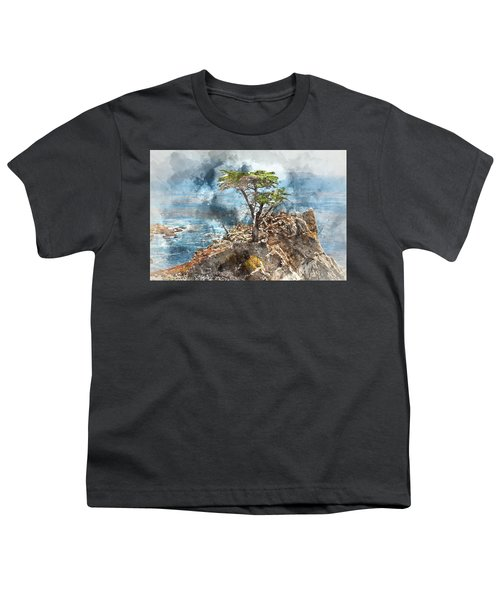 Lone Cypress In Monterey California Youth T-Shirt