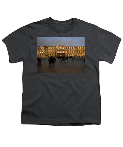 Youth T-Shirt featuring the photograph Louvre Palace, Cour Carree by Mark Czerniec