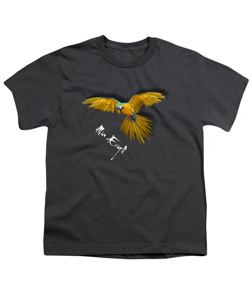Macaws In Paint Youth T-Shirt