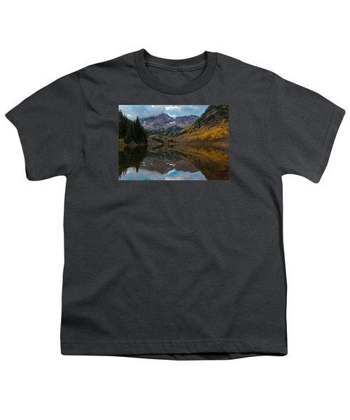 Maroon Bells Youth T-Shirt by Gary Lengyel