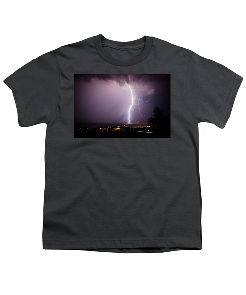 Massive Lightning Storm Youth T-Shirt