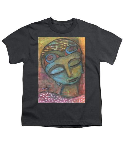 Youth T-Shirt featuring the mixed media Meditative Awareness by Prerna Poojara