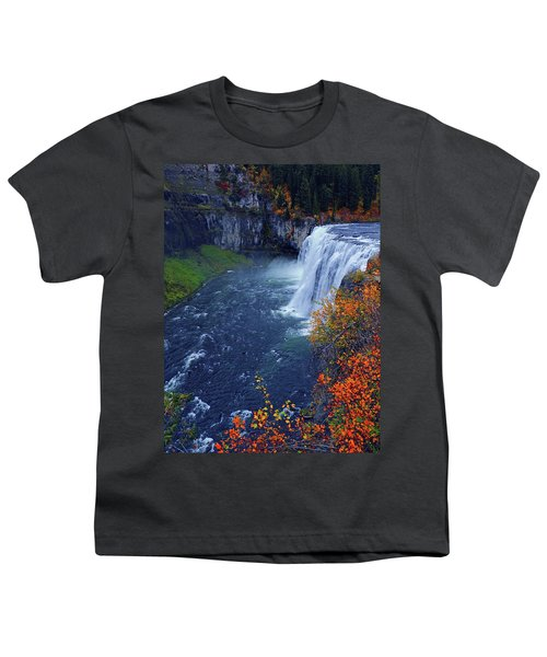 Mesa Falls In The Fall Youth T-Shirt