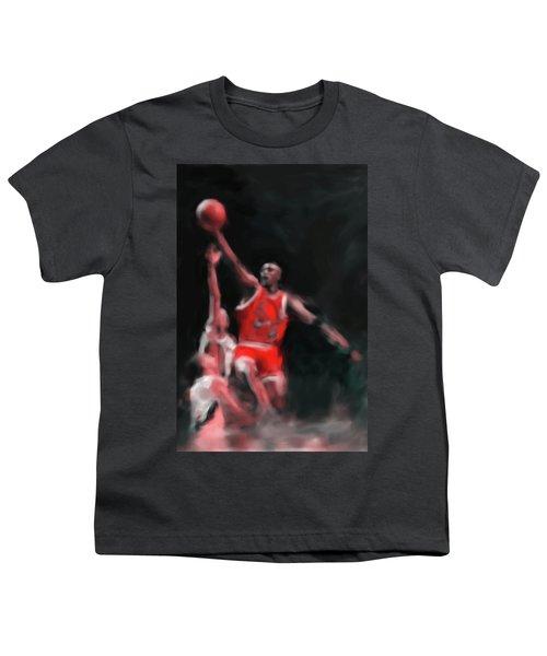 Michael Jordan 548 3 Youth T-Shirt by Mawra Tahreem