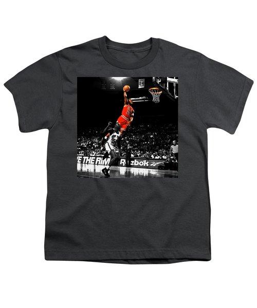 Michael Jordan Suspended In Air Youth T-Shirt