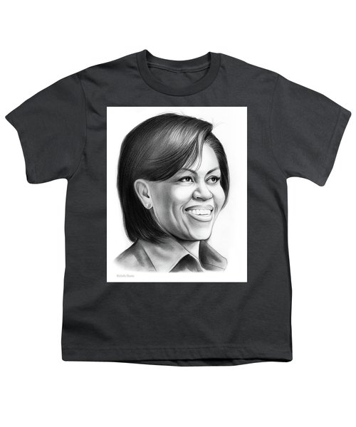 Michelle Obama Youth T-Shirt by Greg Joens