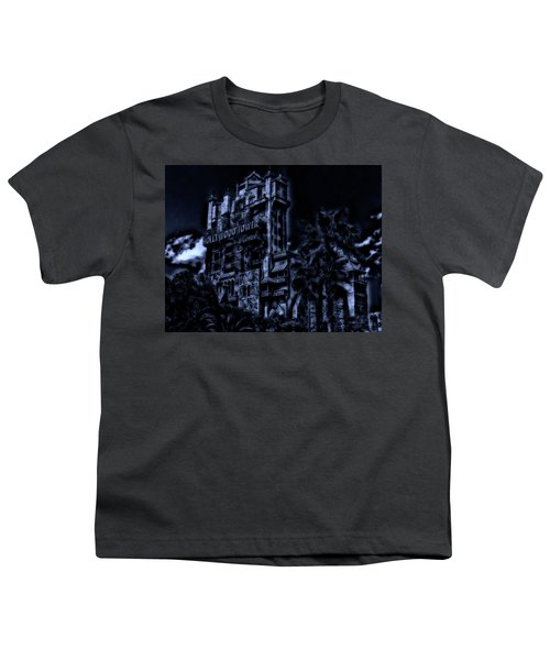 Midnight At The Tower Of Terror Mp Youth T-Shirt by Thomas Woolworth