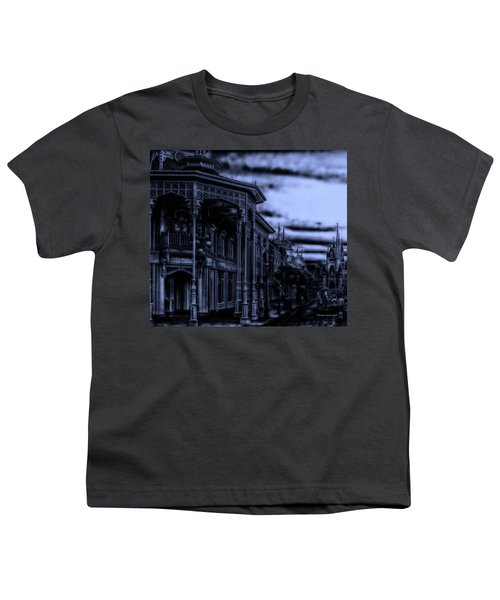 Midnight On Main Street Disney World Mp Youth T-Shirt by Thomas Woolworth