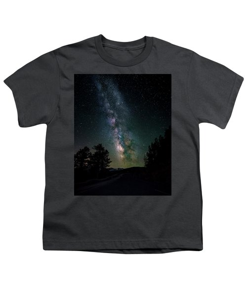 Milky Way Over Rocky Mountains Youth T-Shirt