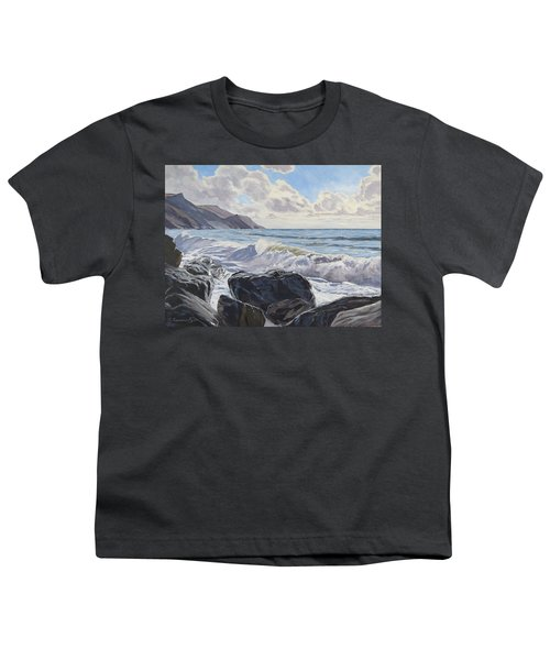 Youth T-Shirt featuring the painting Millook Haven by Lawrence Dyer