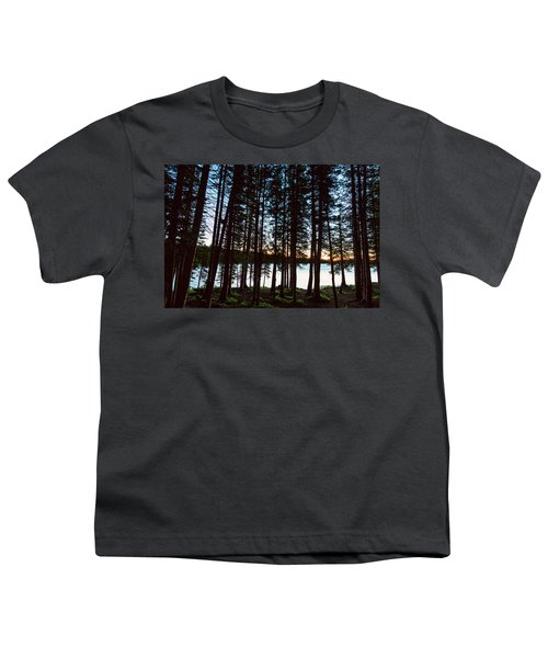 Youth T-Shirt featuring the photograph Mountain Forest Lake by James BO Insogna