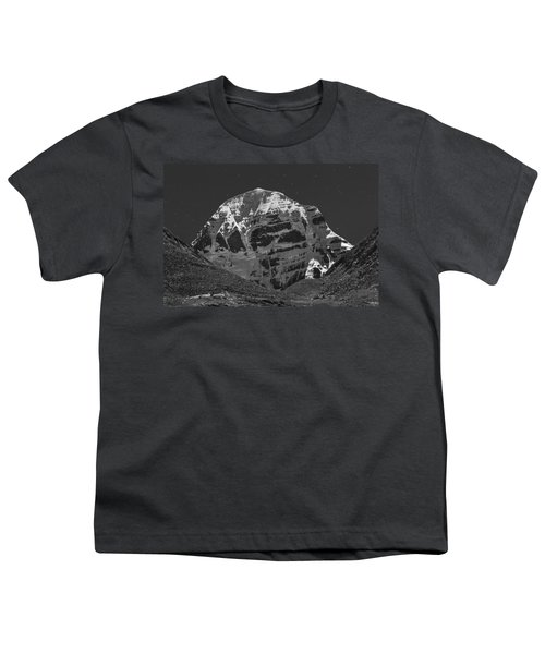Mt. Kailash In Moonlight Youth T-Shirt by Hitendra SINKAR