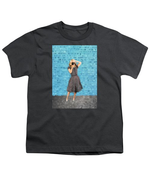 Youth T-Shirt featuring the digital art Natalie by Nancy Levan