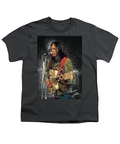 Neil Young Youth T-Shirt by Taylan Apukovska