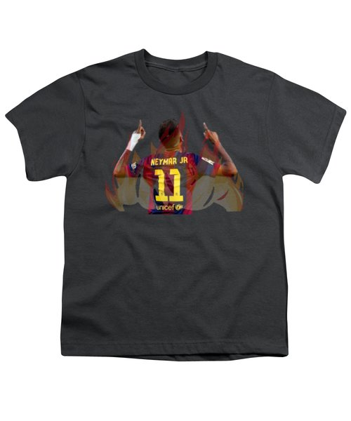Neymar Youth T-Shirt by Vincenzo Basile
