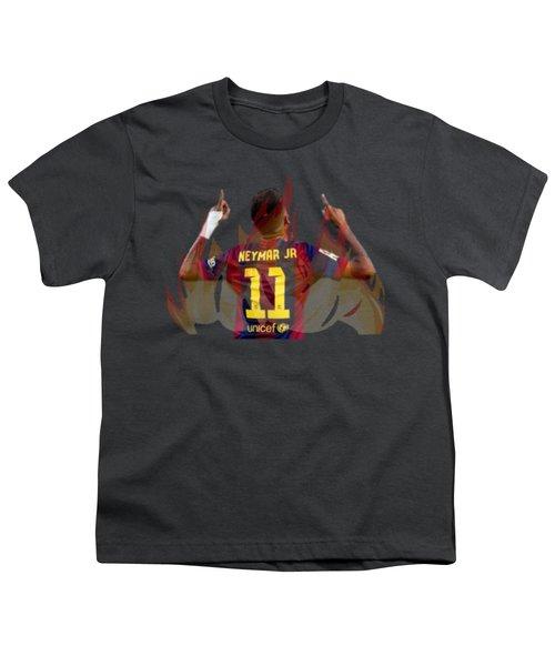 Neymar Youth T-Shirt by Vincenzo Basile