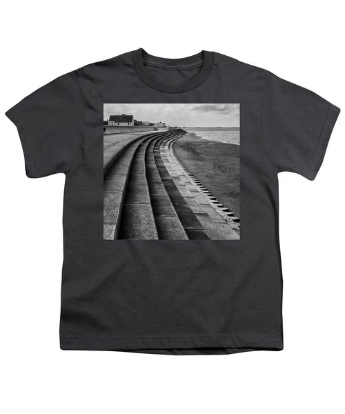 North Beach, Heacham, Norfolk, England Youth T-Shirt by John Edwards