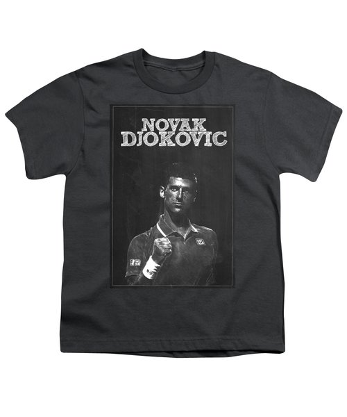 Novak Djokovic Youth T-Shirt by Semih Yurdabak