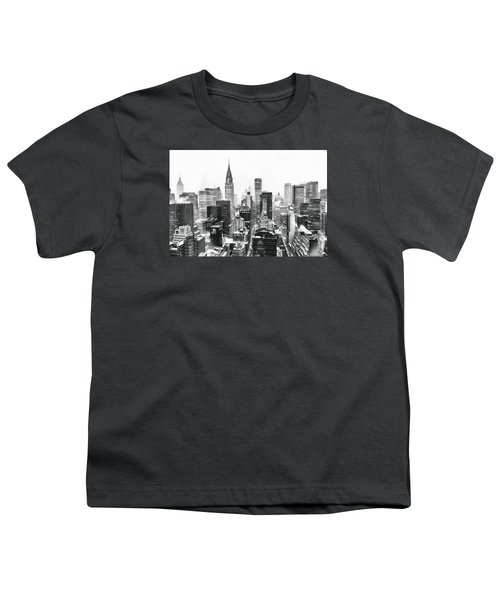 Nyc Snow Youth T-Shirt by Vivienne Gucwa