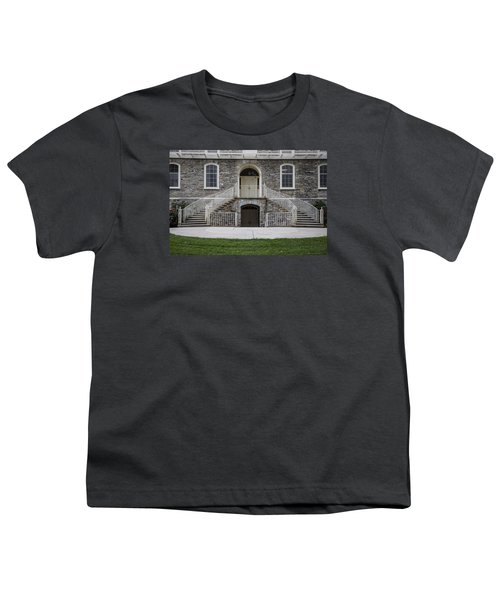Old Main Penn State Stairs  Youth T-Shirt by John McGraw