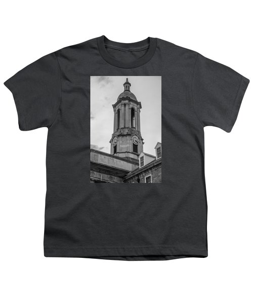 Old Main Tower Penn State Youth T-Shirt by John McGraw