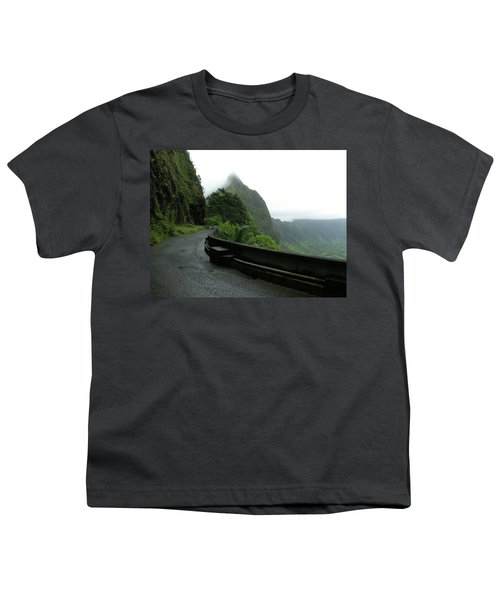 Youth T-Shirt featuring the photograph Old Pali Road, Oahu, Hawaii by Mark Czerniec