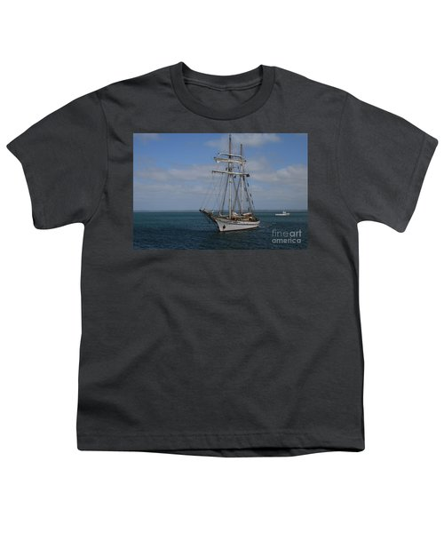 Youth T-Shirt featuring the photograph Approaching Kingscote Jetty by Stephen Mitchell